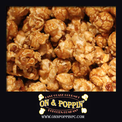 Caramel Flavored Popcorn with Pecans