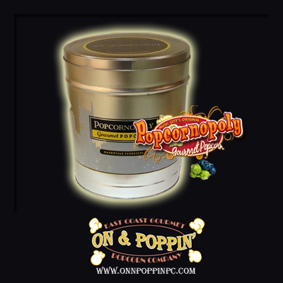 Poppinopoly Decorative Tins - 3.5gal. Container - Candy Flavored